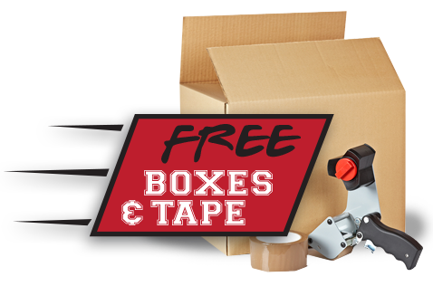 University Student Storage free moving boxes and tape